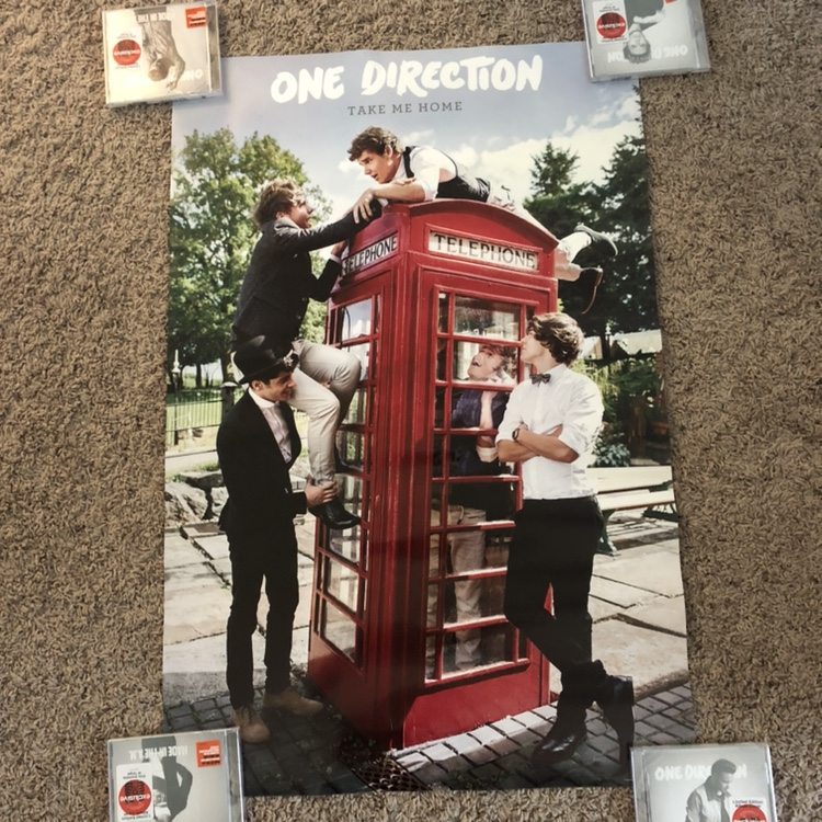 One Direction Take me home poster  22 x 34 inches     - Depop