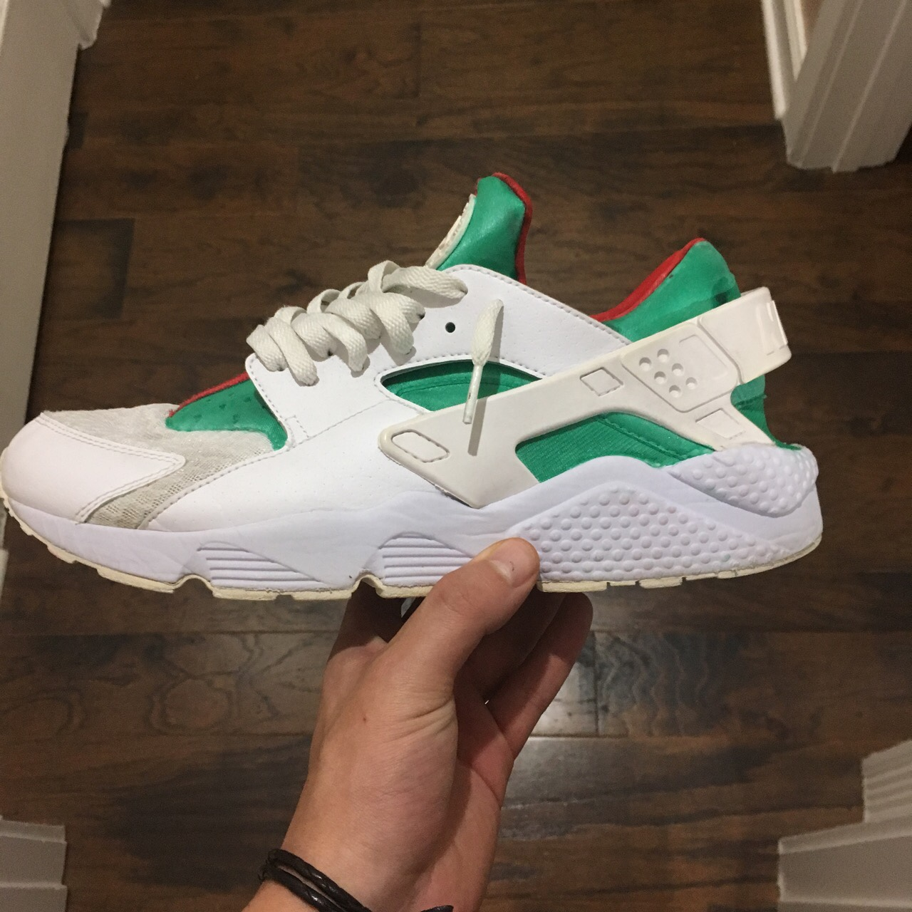 reputable site 08676 3faf6 CUSTOM hand painted Nike Huaraches Run small, I'm... - Depop