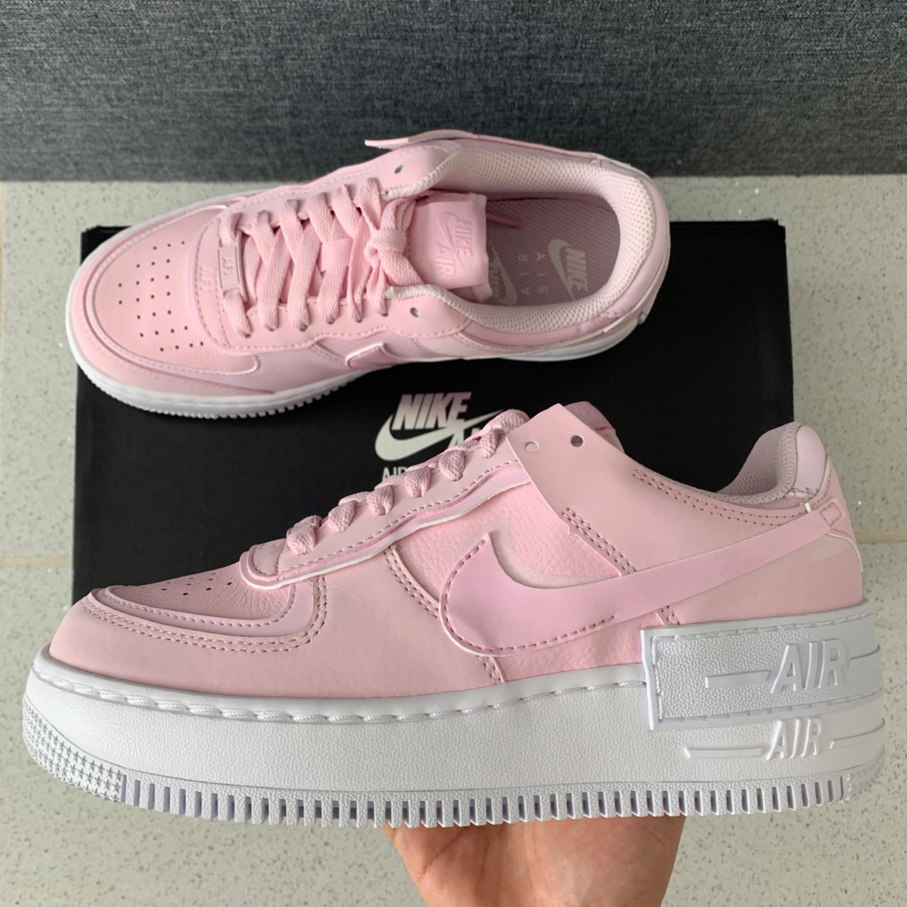Wmns Nike Air Force 1 Shadow Pink Foam Pink Foam Depop