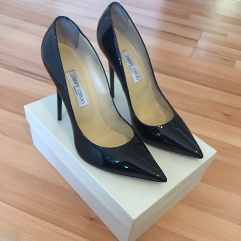 c9b61a205 @muzzynk. last month. Manchester, United Kingdom. Genuine Jimmy Choo Anouk  patent leather black ...