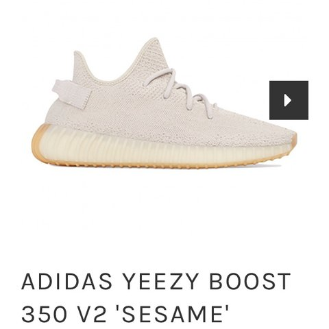e44198c27 Adidas yeezy 350 sesame in a UK 7. Open to offers..message a - Depop