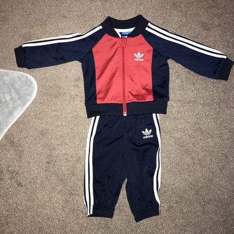 d167d4df2 @whatalfiewears. 2 years ago. West Yorkshire, United Kingdom. Infant Adidas  Originals Tracksuit Navy/Red Size 3-6 months