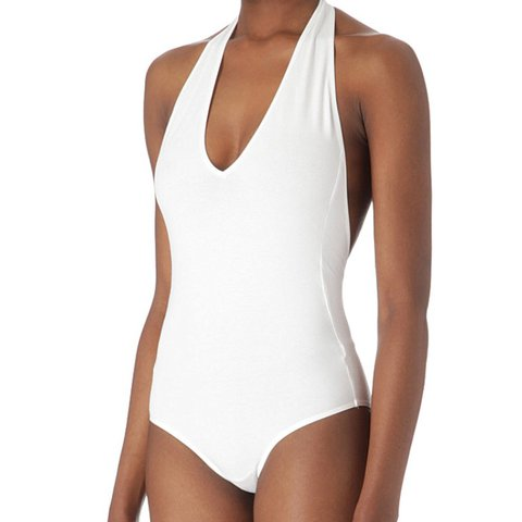 d6124d37b538 @emzleonard. 11 hours ago. Derby, United Kingdom. White American apparel  halter neck bodysuit ...