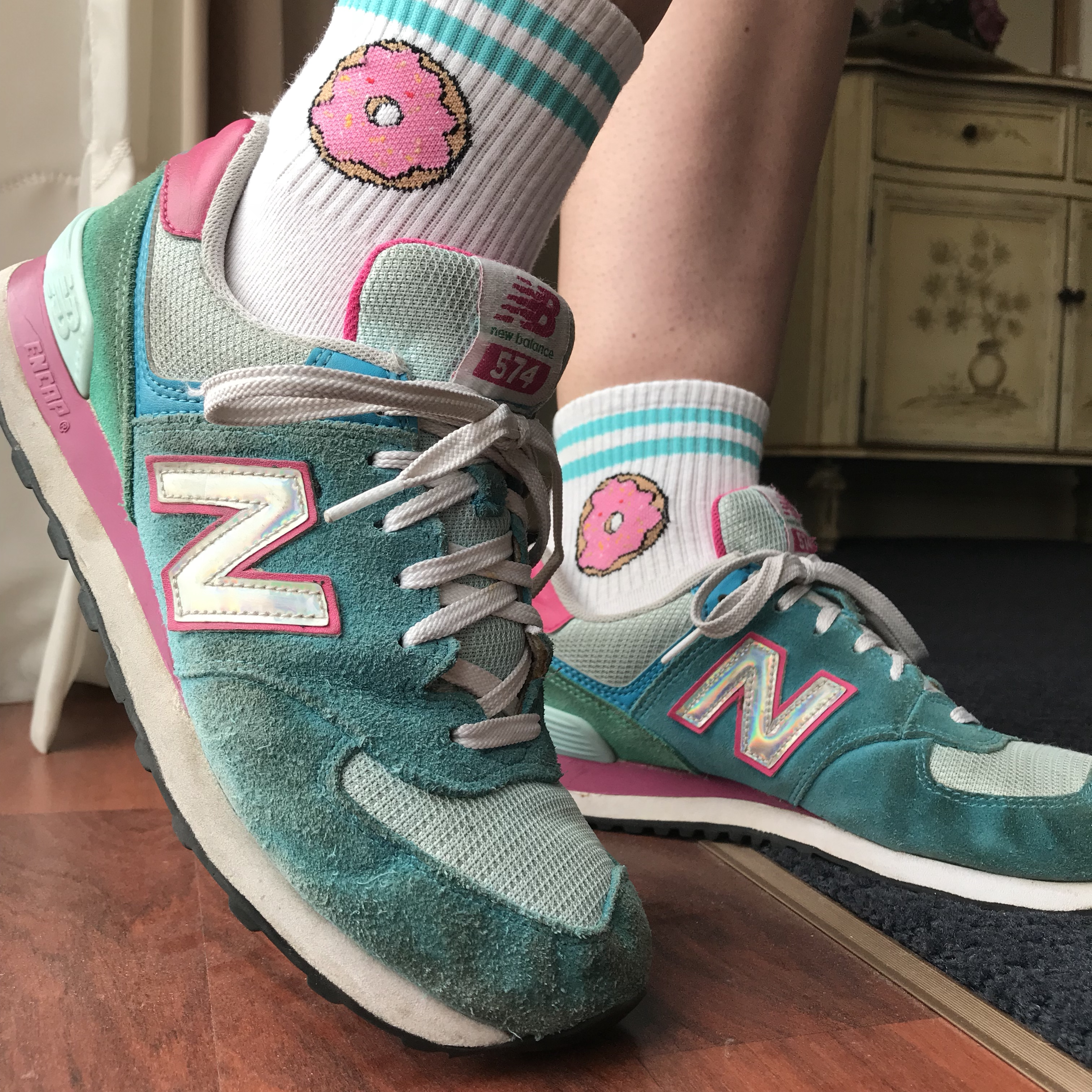 Colourful new balance shoes🌈 I love the