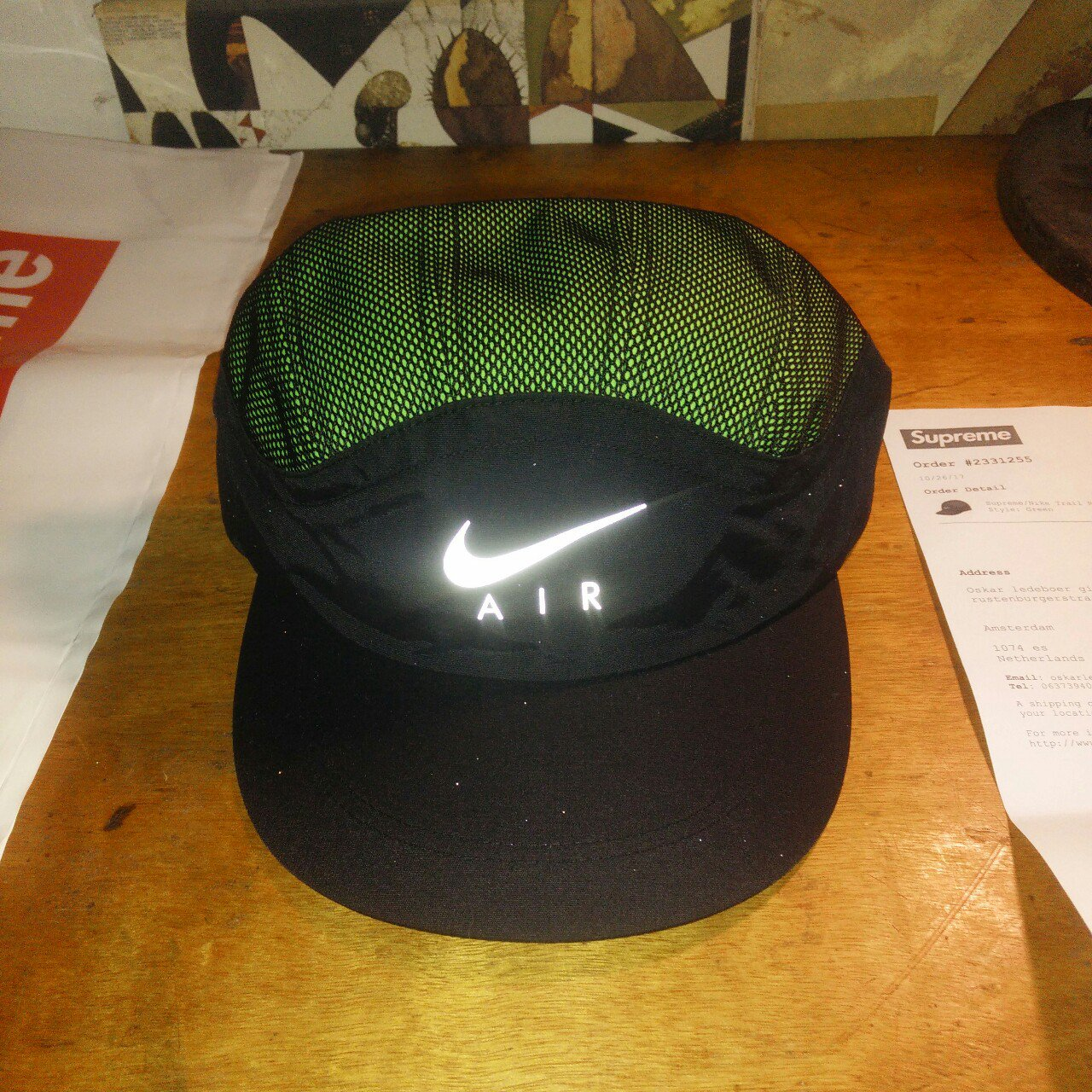 9d3f899a968 Supreme Nike trail running hat Style  green Private