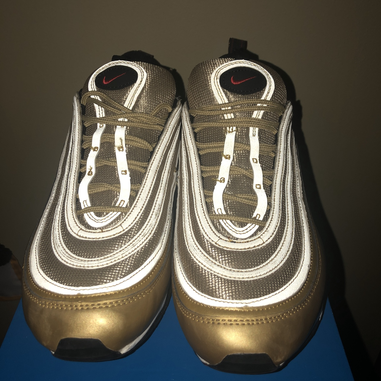 sneakers for cheap 35acc 34347 AIR MAX 97 METALLIC GOLD SIZE 11 ***BOUGHT FROM... - Depop