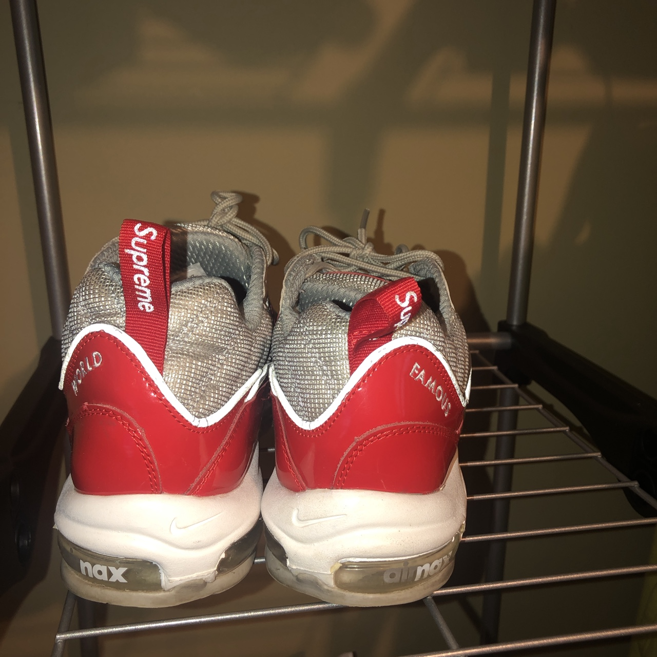 low priced d4dfe d8907 SUPREME NIKE AIR MAX 98 REP GREAT QUALITY EXACT... - Depop