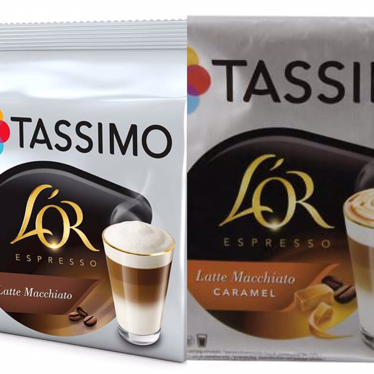 New Tassimo Lor Latte Macchiatos one is caramel and