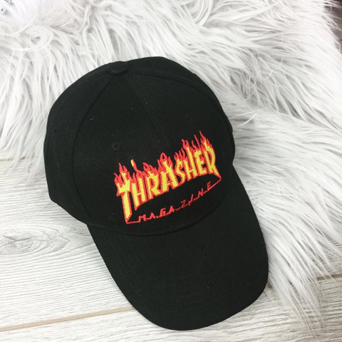 Thrasher Flame Dad Hat New - Depop 89d1a1c1f2e