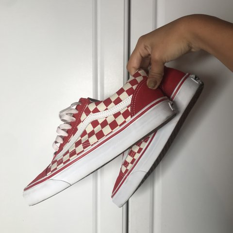 b5b8998f0b4b @shopsavesmile. 7 months ago. North East, United States. classic old skool  red checkered vans •adds a pop of color ...