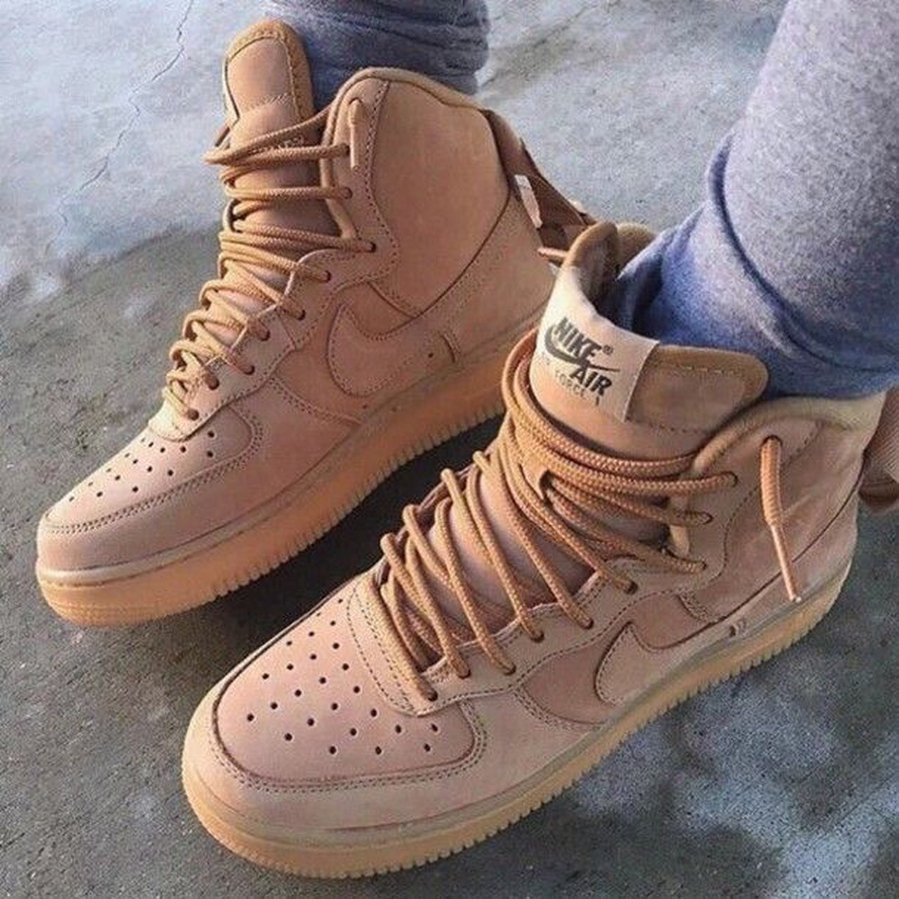 newest ace0f 894d2  paoliortizz. last year. Louisville, United States. Nike Air Force 1 High -  Suede Wheat