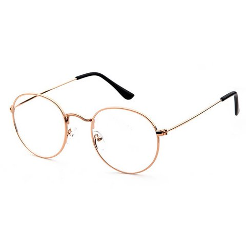 81f390b693 Oval round rose gold clear lens glasses retro vintage