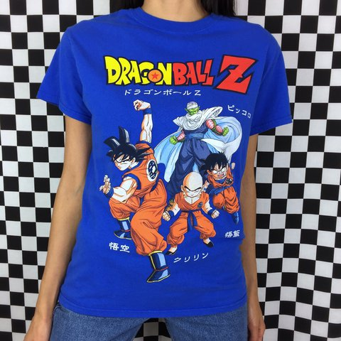 39bfabc60 🐉☄ ⚡️Y2K Dragon Ball Z Squad Tee features super sayian of & - Depop