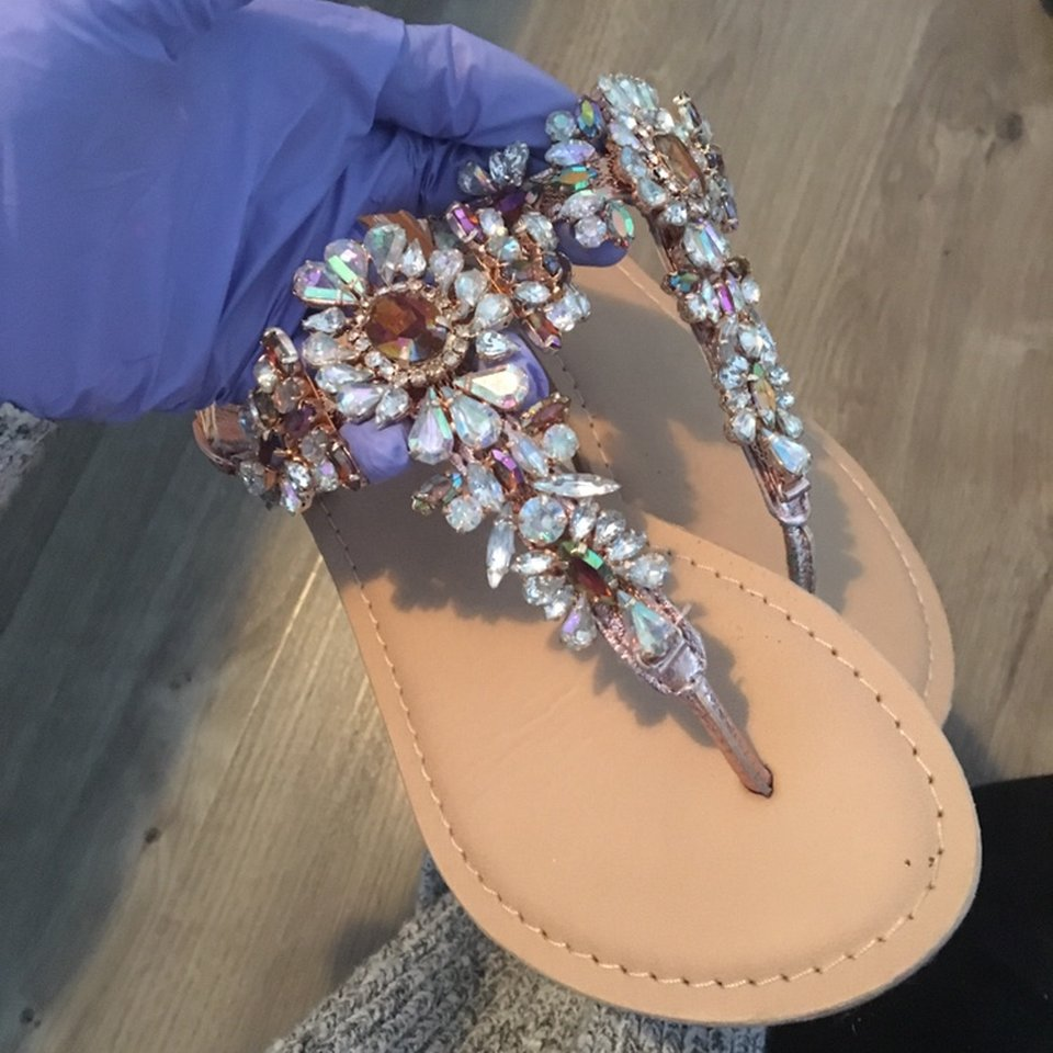 ASOS size 3 jewelled sandals ASOS river