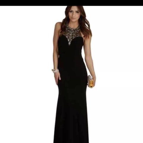 16e4167e995a Mermaid prom dress - Worn only once 2 years ago - all black - Depop