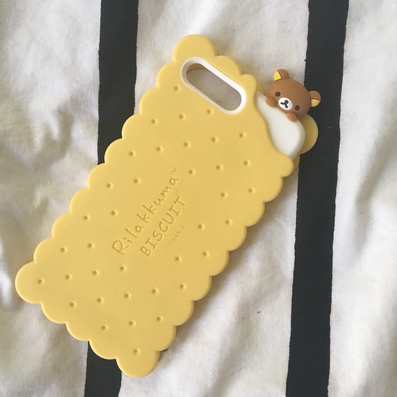 save off 7fb75 8cce5 brand new rilakkuma biscuit case for iphone 7plus!... - Depop