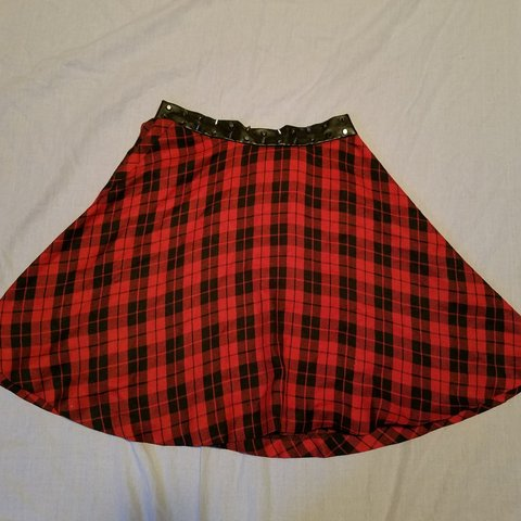 6c73daf1c6 @suckerpunchsoap. 10 months ago. San Antonio, Bexar County, United States.  Red & black tartan circle skirt. Waistband is pleather (not ...