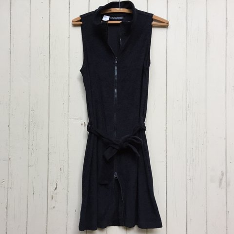 Black Terry Cloth Dress