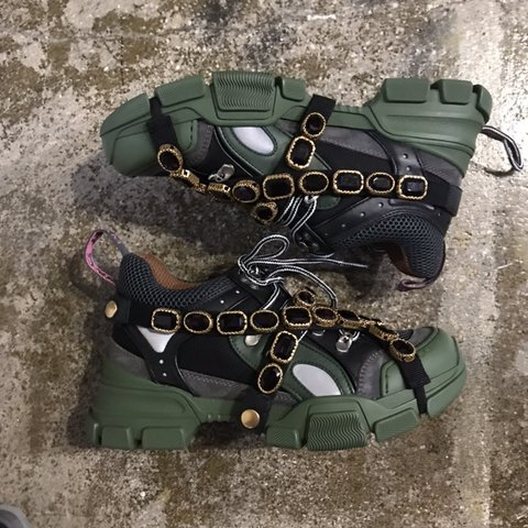 ac08f41d0 @srousseau24. 2 months ago. Chicago, United States. Brand new women's gucci  sega sneaker size ...