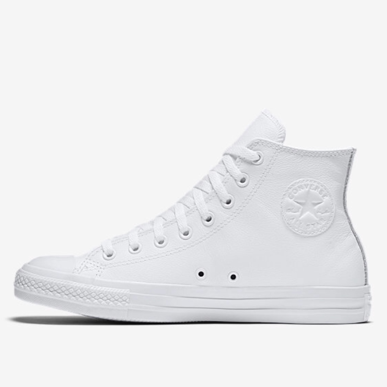 white leather high top converse womens