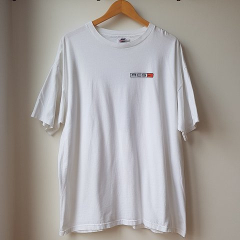 cfed62c3fac4 Nike ACG Graphic T-Shirt in White. 90s Nike ACG white t t a - Depop