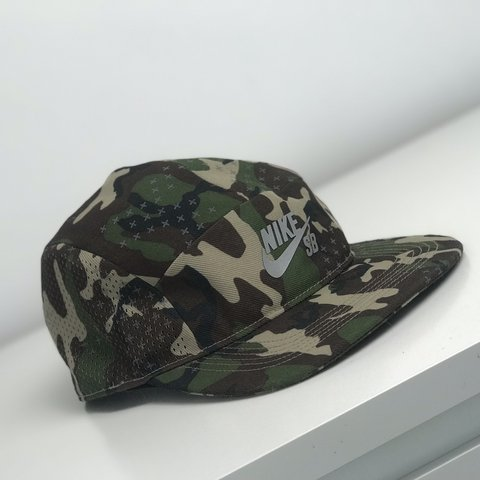FREE DELIVERY     dead stock Nike sb 5 panel camo hat. - Depop 1a5eae2d34d