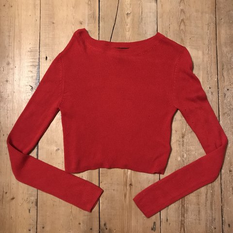 0a6e83eff76 @frankiepop24. 10 days ago. United Kingdom. Topshop red ribbed knit crop  top size 8