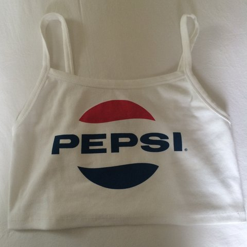 e2b3ce17dbd25 ZARA PEPSI VINTAGE CROP TOP SIZE LARGE FITS MORE LIKE - Depop