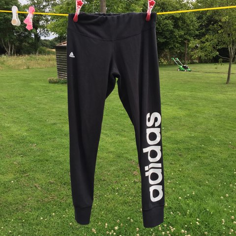 a363814b948f7 @buyandselldepop. 2 years ago. Attleborough, United Kingdom. Women's black  adidas gym leggings!