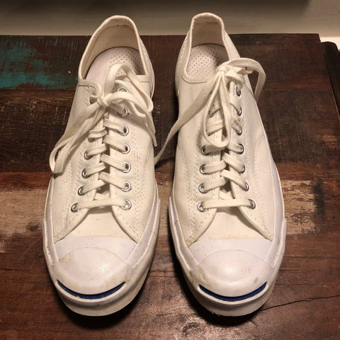 2ae1d9d1799d Men s Converse Jack Purcell Sneakers. Men s US size 9.5   US - Depop