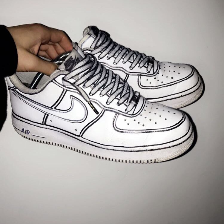 Cartoon Custom Air Force 1 Size 7 5 8 10 Condition Depop