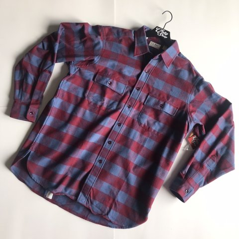 26084e96b828 Vintage LL Bean Flannel Shirt Plaid Checkered Multicolor in - Depop