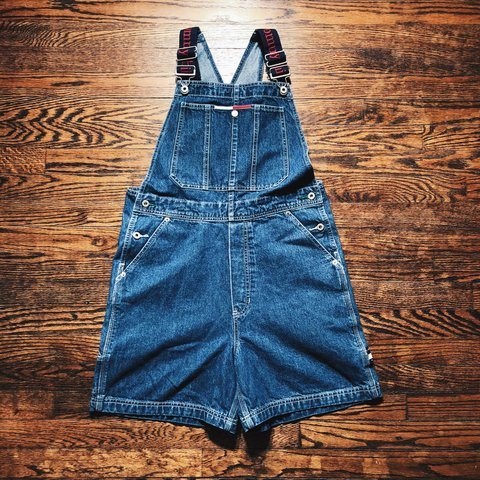 f283a187 @oldschoolcollective. 11 months ago. Knoxville, United States. Vintage 90's Tommy  Hilfiger Denim Overalls.