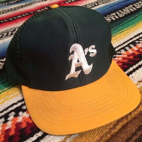 b577813d8bd ... sale vintage 70s 80s oakland athletics snapback trucker hat. to depop  e3705 694a4