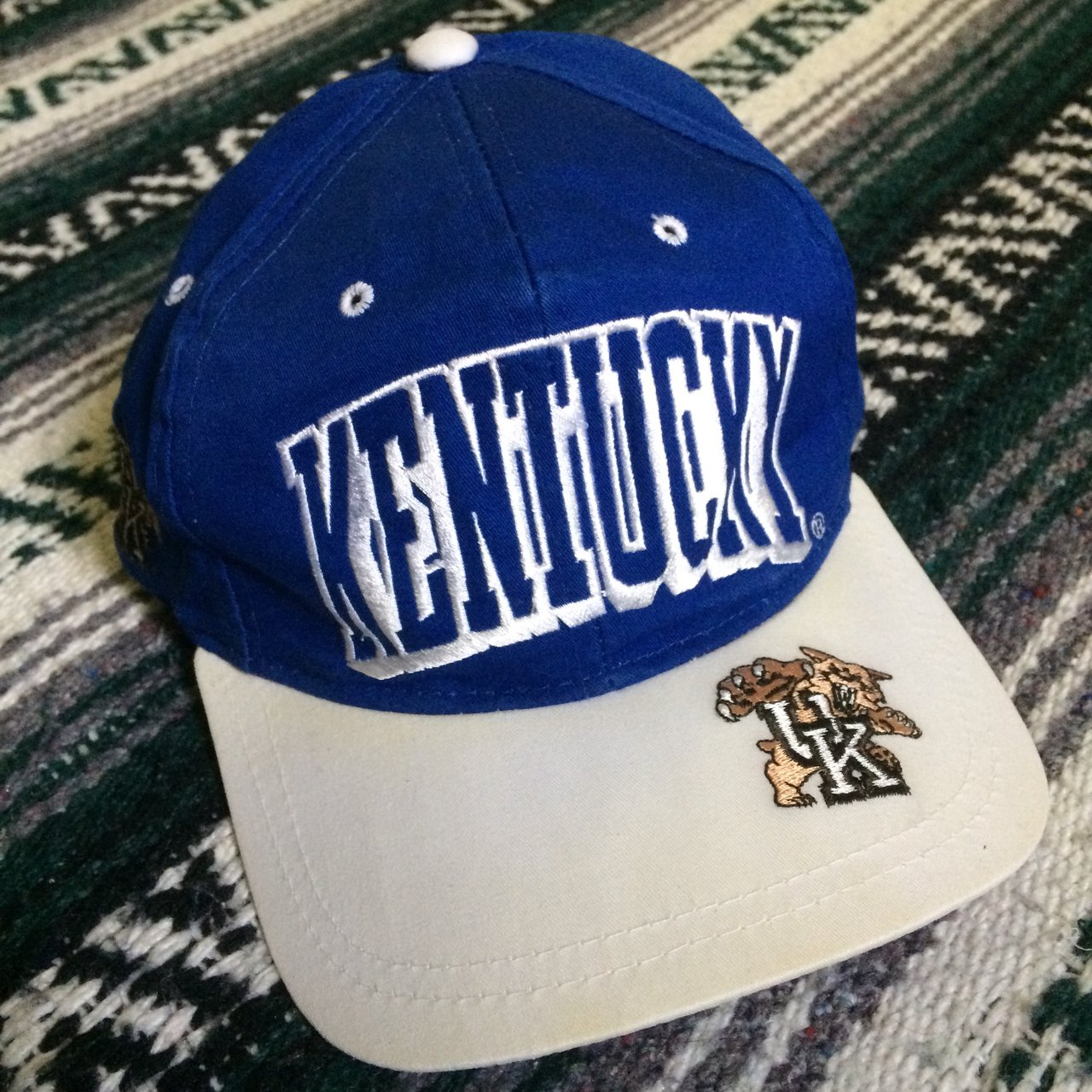 5e6e754a7a3 Vintage 90s Kentucky Wildcats snapback hat. Made by Cap Boy. - Depop