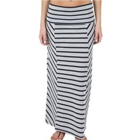 a8dd8755d7 Roxy black/grey striped maxi skirt *like new condition/ too - Depop