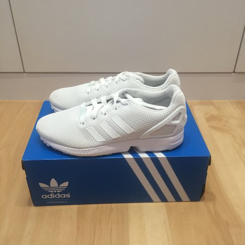 5ab6ceb61 Adidas ZX Flux White Size 5.5 Used but in good with original - Depop