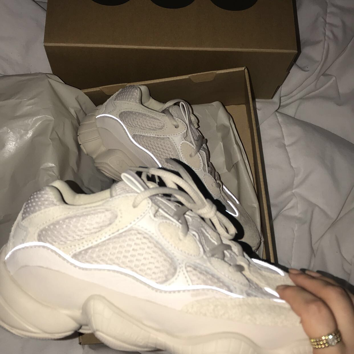 "los angeles 30a5d b8864 Deadstock Yeezy 500 ""Desert Rats"" in Blush. Kylie,... - Depop"