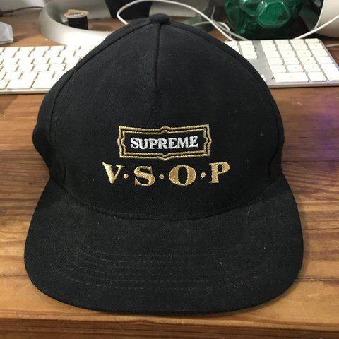 95e304b4aa4 discount code for starter authentic snapback black d7001 f2bbd  ireland  supreme vsop hennessy starter snapback supreme starter depop b2ec5 973ec