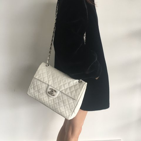 5befcdd7c75e Authentic vintage Chanel classic quilted caviar maxi handbag - Depop