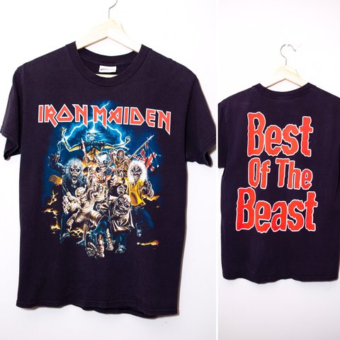e56001f2170 Vintage Iron Maiden Best of the Beast 1996 tee. The very add - Depop