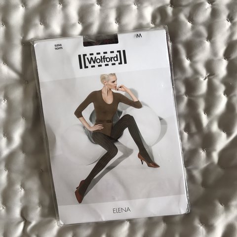 Wolford Elena Opaque Printed Tights In Black And Red For M Depop