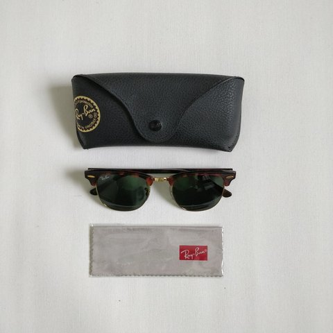 890011468497b Ray-Ban Clubmaster Sunglasses - Brown 100% legit (receipt on - Depop