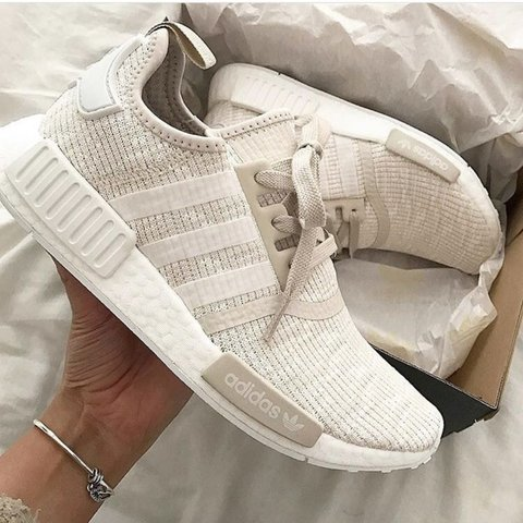 503fcdc1c447e Women s Adidas NMD R1 Sand  Nude  Beige Size  4 UK   37 with - Depop