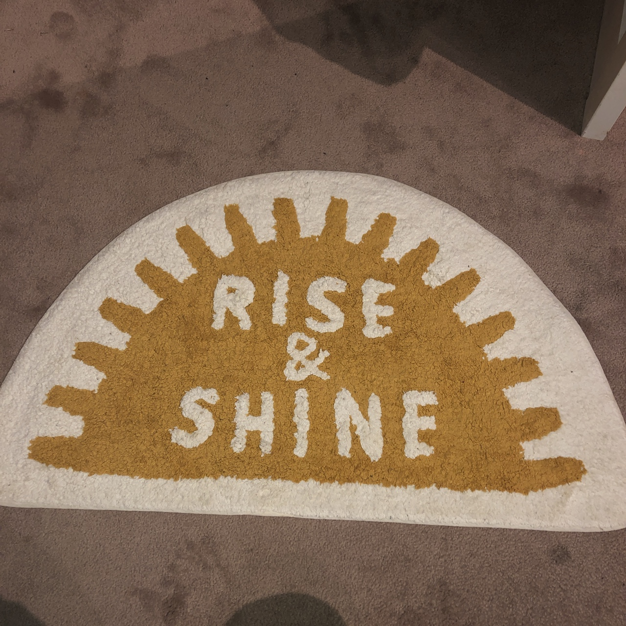 Rise And Shine Bath Mat Rug Used As A Carpet In Depop
