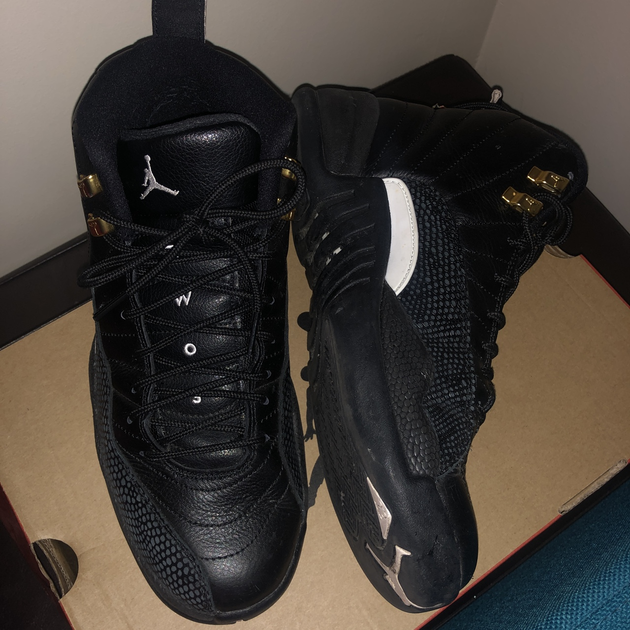 hot sale online 61cd5 51bc0 Nike Air Jordan Retro 12 - The Master - Size UK 7.5... - Depop
