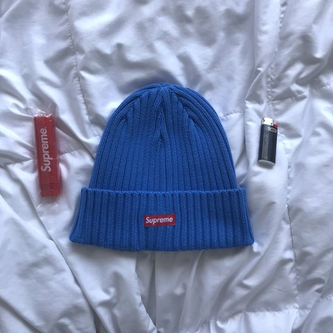 9771407b76963 Supreme Ribbed Beanie SS18 in Royal Blue 10 10 DS just out - Depop