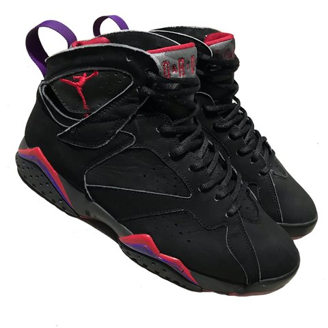 9deb84890670 Jordan Retro 7 Raptor 2002 Colorway - Red Purple Black Size - Depop