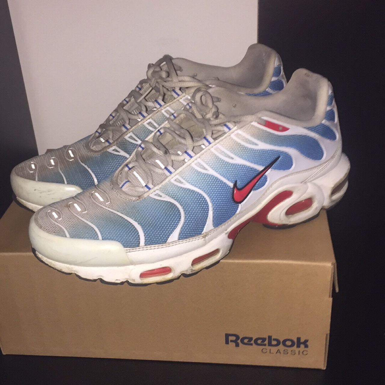 100% authentic e131b 586f4 nike tn tuned air max plus tuned 1... - Depop
