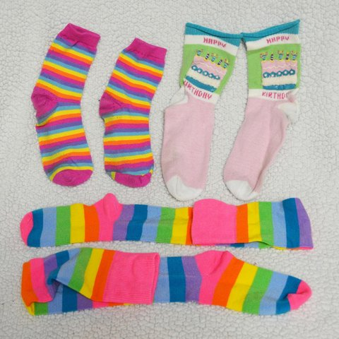 0d4e9cfac 😃👣 Kawaii sock 3 pack! 👣😃 This listing is for all 3 of - Depop